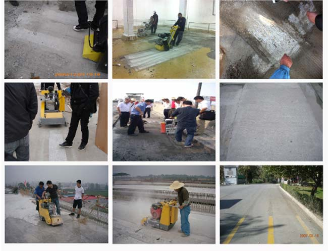High Speed Road Concrete Milling Machine , Pavement Grooving Machine For Slip Resistance