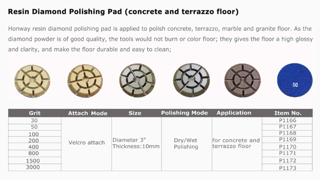 Lightweight Diamond Resin Polishing Pads , Travertine Polishing Pads Different Grit