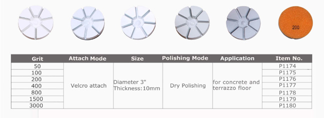 Commercial Floor Polishing Machine Pads , Diamond Polishing Tools Water Resistant