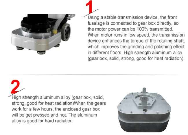 Four Plates Artificial Floor Grinding And Polishing Machine For Road Construction