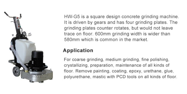 Square Design Cement Polishing Machine , Industrial Concrete Grinder To Level Floor