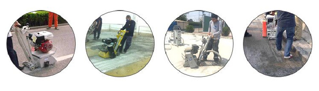 Durable Concrete Scarifier Machine With Cuttting Tools Tungsten Carbide Scarifier Cutters