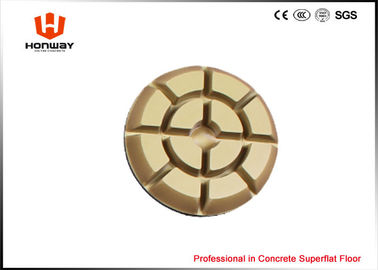China Round Concrete Floor Polishing Pads With Resin And Diamond Powder 10mm Thick supplier