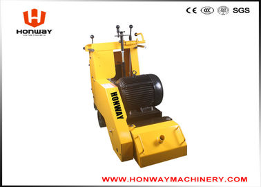 China Yellow Floor Scarifying Machine , Concrete Floor Leveling Machine Long Using Life supplier